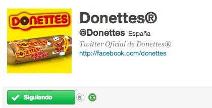 Perfil Twitter Donettes